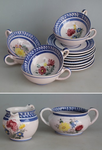syberg keramik Fem tekopper hvoraf 2 har indvendige krakeleringer samt et  syberg keramik